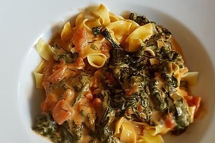 Mangold - Tomaten - Senf - Sahne - Tagliatelle 5