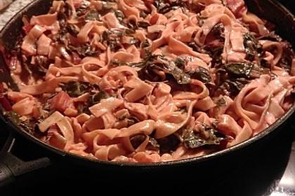 Mangold - Tomaten - Senf - Sahne - Tagliatelle 26