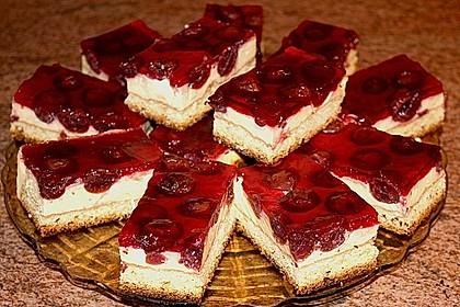 Kirsch Schmand Kuchen Pudding Zuhause Image Idee