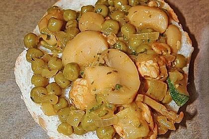 Gemüse - Puten Brötchen mit Mozarella überbacken 3