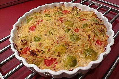 Überbackener Rosenkohl mit Kartoffelkruste 0