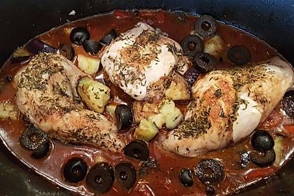 Kaninchen in Tomaten - Rotweinsauce (Maltesische Nationalspezialität)