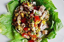 Salat mit Schweinebraten