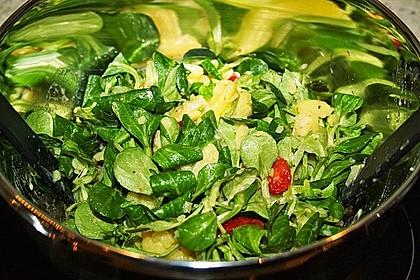 Kartoffelsalat mit Tomate und Feldsalat 2