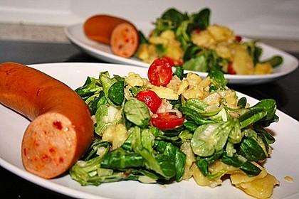 Kartoffelsalat mit Tomate und Feldsalat 0