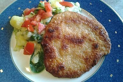 Kartoffelsalat mit Tomate und Feldsalat 4