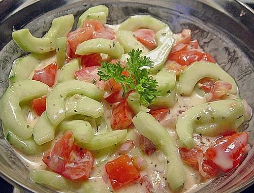 gurken tomaten salat rezept mit bild von rosanna7. Black Bedroom Furniture Sets. Home Design Ideas