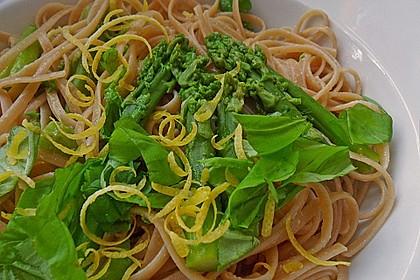 Zitronen-Linguine mit grünem Spargel
