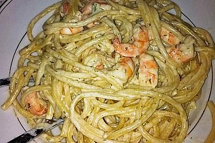Spaghetti mit Garnelen in Zitronen-Butter-Soße