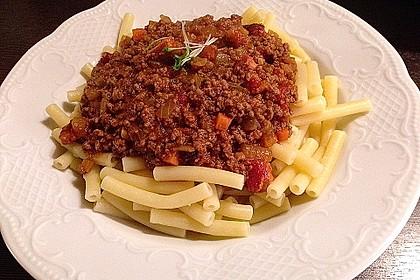 Spaghetti mit feiner Hackfleischsauce 1