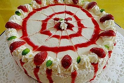 Erdbeer-Joghurt-Sekt-Torte 2