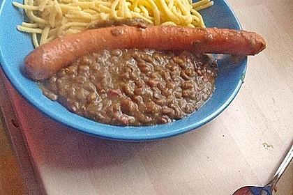 Schwäbische Linsen mit Spätzle und Saitenwürstchen 11