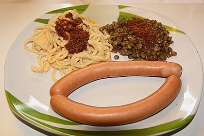 Schwäbische Linsen mit Spätzle und Saitenwürstchen 12