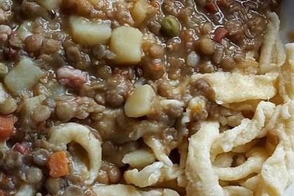 Schwäbische Linsen mit Spätzle und Saitenwürstchen 20