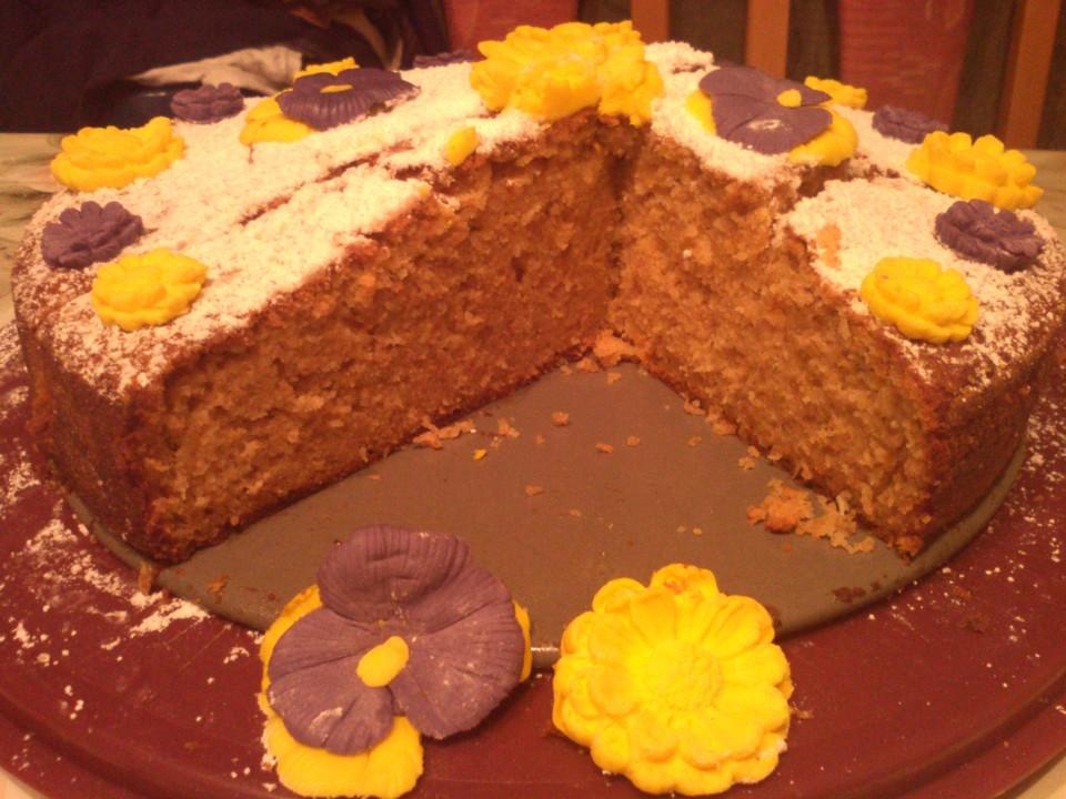 Kuchen mit dinkelmehl und rohrzucker