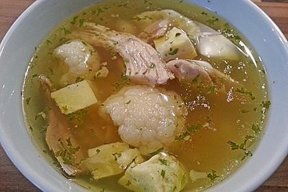Hühnersuppe im Schnellkochtopf