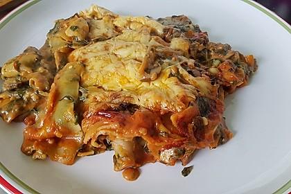 Vegetarische Spinat-Gemüse Lasagne mit Tomatensoße 5