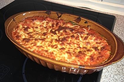 Vegetarische Spinat-Gemüse Lasagne mit Tomatensoße 1