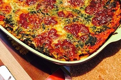 Vegetarische Spinat-Gemüse Lasagne mit Tomatensoße 2