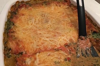 Vegetarische Spinat-Gemüse Lasagne mit Tomatensoße 13