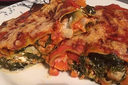 Vegetarische Spinat-Gemüse-Lasagne mit Tomatensoße 8