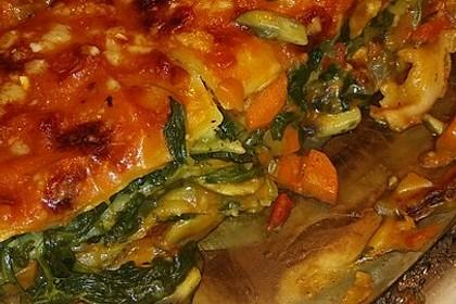Vegetarische Spinat-Gemüse Lasagne mit Tomatensoße 10