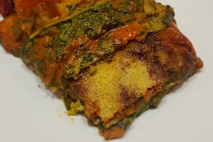 Vegetarische Spinat-Gemüse-Lasagne mit Tomatensoße 3