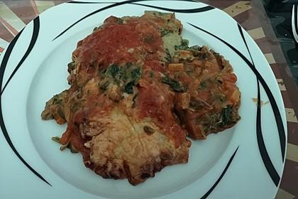 Vegetarische Spinat-Gemüse-Lasagne mit Tomatensoße 16