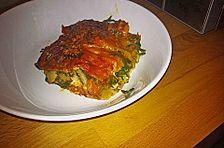 Vegetarische Spinat-Gemüse Lasagne mit Tomatensoße