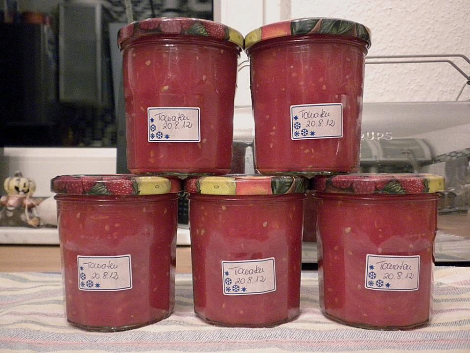 Tomaten für den winter konservieren