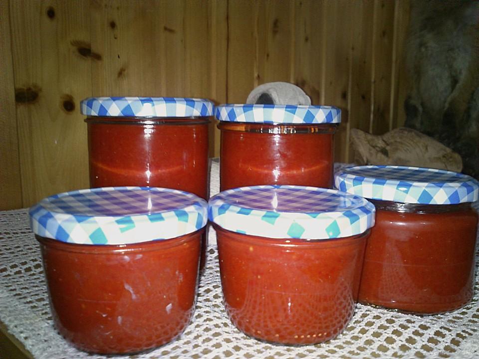paprika tomaten p ree f r den winter konserviert rezept mit bild. Black Bedroom Furniture Sets. Home Design Ideas