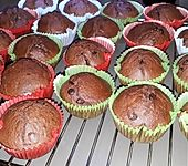 Fluffige Bananen-Schoko Muffins (Bild)