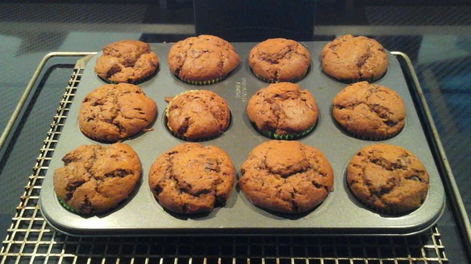 fluffige bananen schoko muffins rezept mit bild. Black Bedroom Furniture Sets. Home Design Ideas