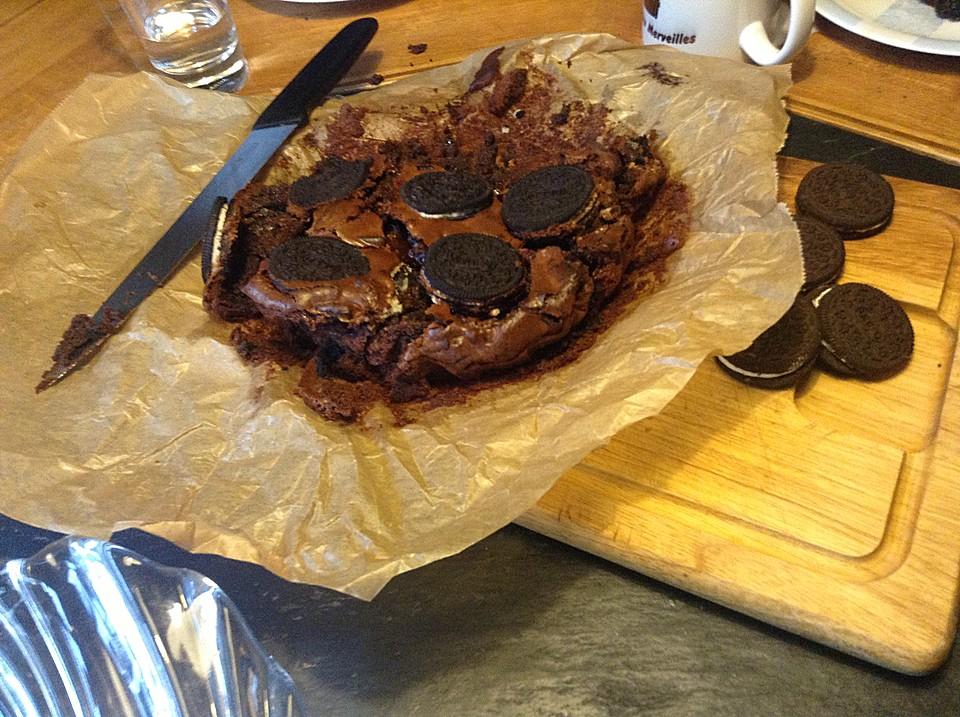 oreo brownie kuchen rezept mit bild von brathaehnchendeluxe. Black Bedroom Furniture Sets. Home Design Ideas