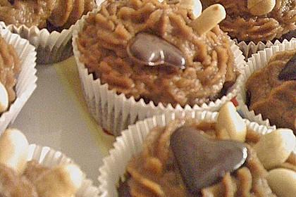 Vegane Schoko-Erdnussbutter-Cupcakes 14