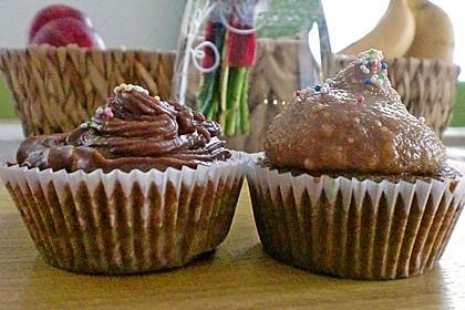 Vegane Schoko-Erdnussbutter-Cupcakes 17