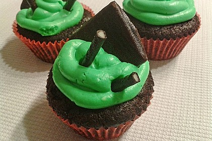 Schoko-Mint Cupcakes mit After-Eight Frosting 16