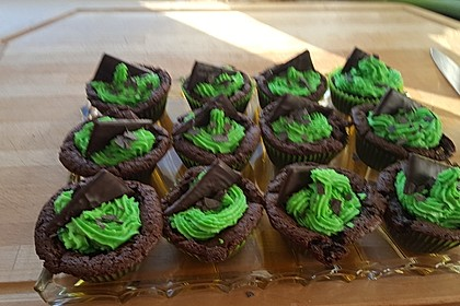 Schoko-Mint Cupcakes mit After-Eight Frosting 22
