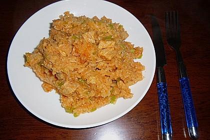Chinesisches Reisfleisch mit dem Reiskocher