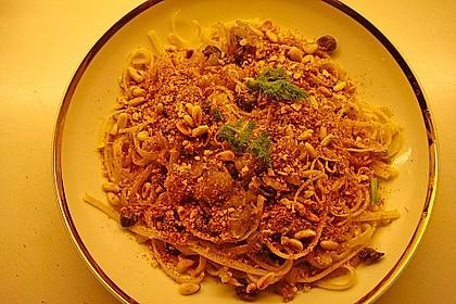 Spaghetti mit Fenchel, Kapern und Chapelure 1