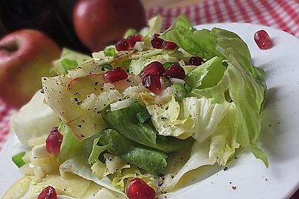 Apfel-Endivien-Salat mit Senfdressing 4