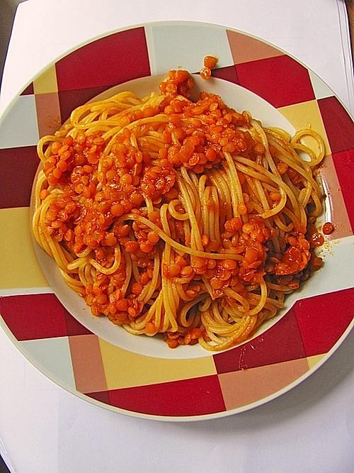 rote linsen curry mit spaghetti rezept mit bild. Black Bedroom Furniture Sets. Home Design Ideas