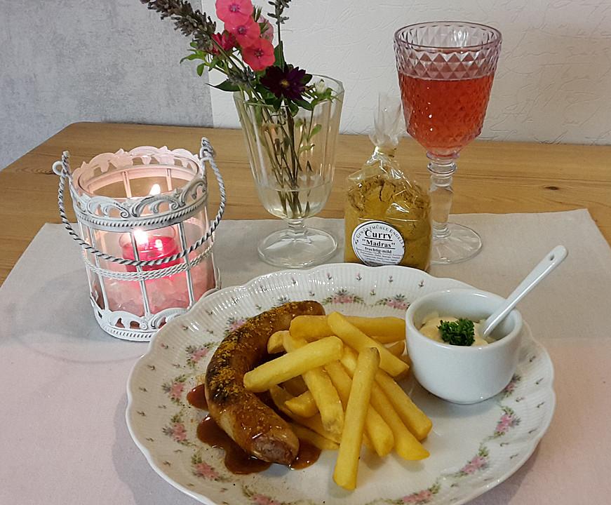 currywurst mit pommes frites rezept mit bild von marc21ja. Black Bedroom Furniture Sets. Home Design Ideas