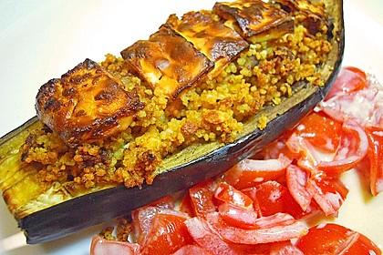 Auberginen gefüllt mit orientalischem Couscous 1