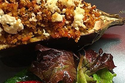 Auberginen gefüllt mit orientalischem Couscous 4