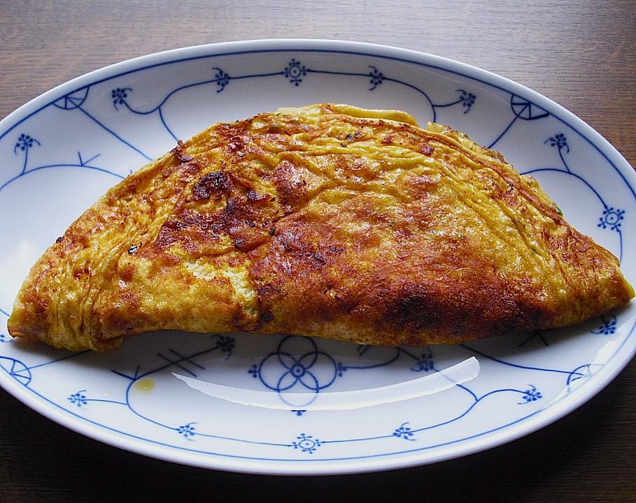 schnelles omelett mit r stzwiebeln und schinken von b renmama. Black Bedroom Furniture Sets. Home Design Ideas