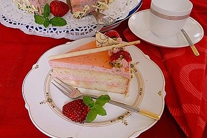 Erdbeer-Sahnetorte mit Aperol Spritz 1
