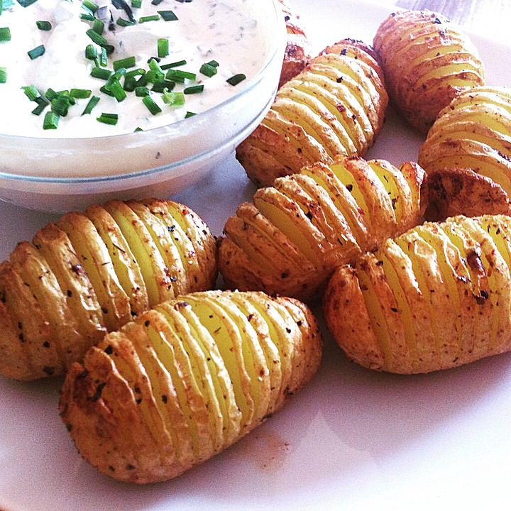 Catharinas Ofenkartoffeln nach Fiefhusener Art mit Kräuterquark