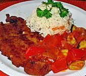 Schnitzel mit Zwiebel-Paprika-Rahmsauce