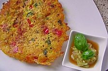 Vegane Gemüse-Hartweizengrieß-Pfannkuchen